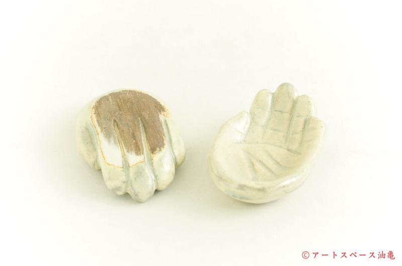 画像1: 江口誠基「掌の豆皿」粉引