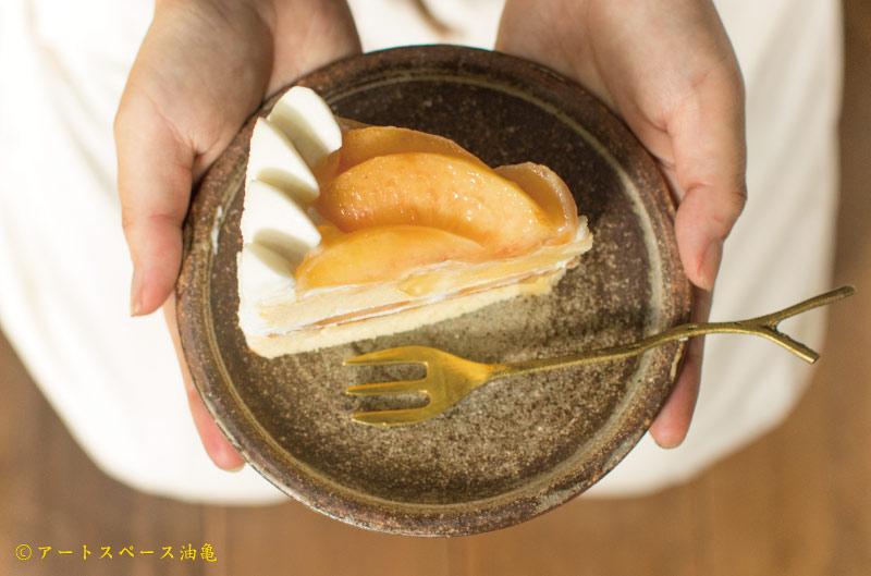 画像1: 林拓児「化粧 ケーキ皿 5寸 B」