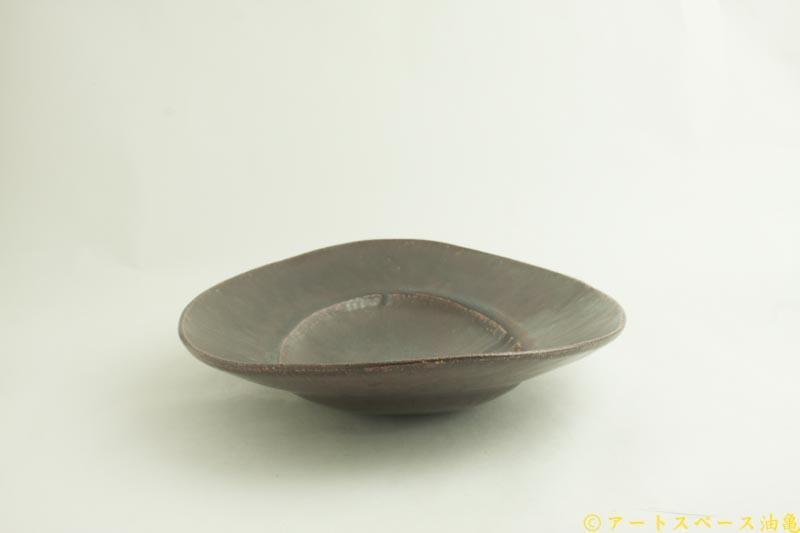 画像4: 林拓児「黒釉 楕円皿 大」