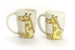 画像1: 岡美希「アニマルマグカップ(キリン)」