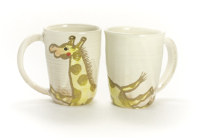 画像2: 岡美希「アニマルマグカップ(キリン)」