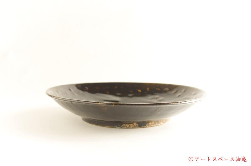画像2: 田村文宏「鉄釉印花皿7寸」