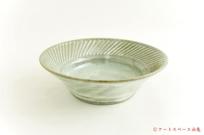 寺村光輔「うのふ釉 6.5寸鎬浅鉢」