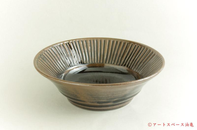 寺村光輔「黒釉 6.5寸鎬浅鉢」