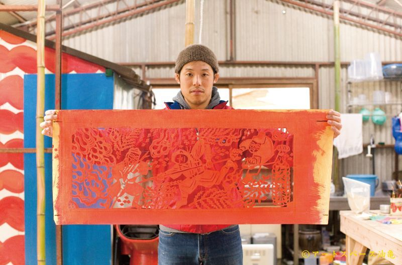 小野豊一の型染 油亀のweb通販<br /> <br /> <撮影:アートスペース油亀>