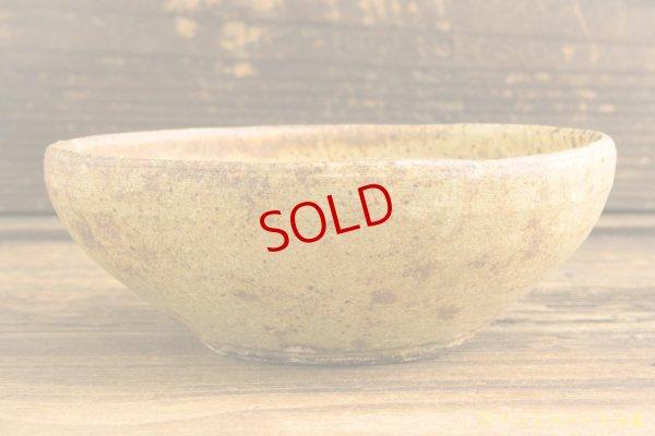 画像1: 馬渡新平「ヒビ粉引き 丸鉢5寸」