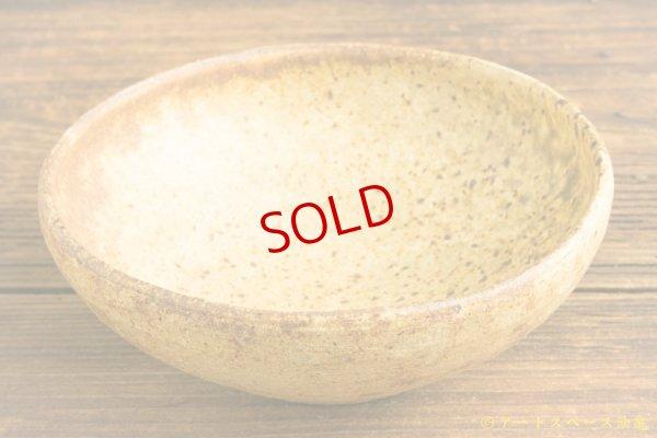 画像2: 馬渡新平「ヒビ粉引き 丸鉢5寸」