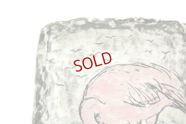 画像2: 奥山泉「四角皿 大 フラミンゴ」
