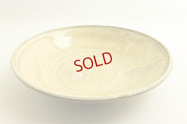 画像1: 八木橋昇「黄化粧 掛け分け 玉縁8寸浅鉢」