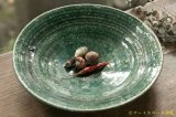 工藤和彦  緑粉引刻線8寸リム皿 【アソート作品】
