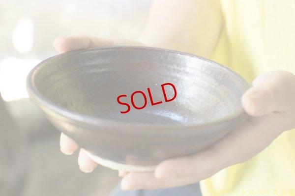 画像1: 林拓児「黒釉 玉壁底碗」