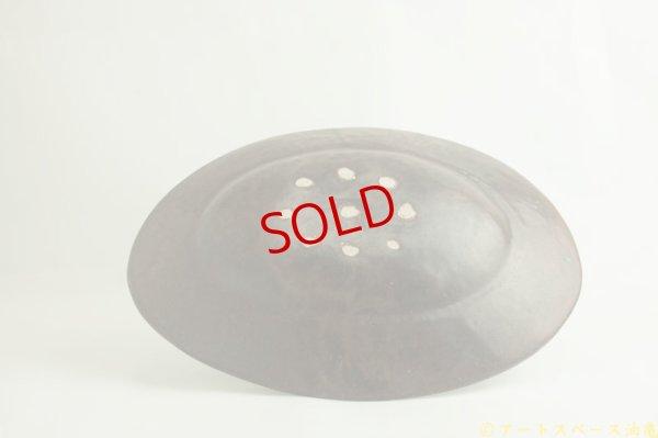 画像2: 林拓児「黒釉 楕円皿 大」