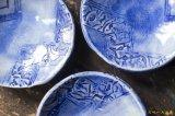 肥後博己 印花紋染付丸皿