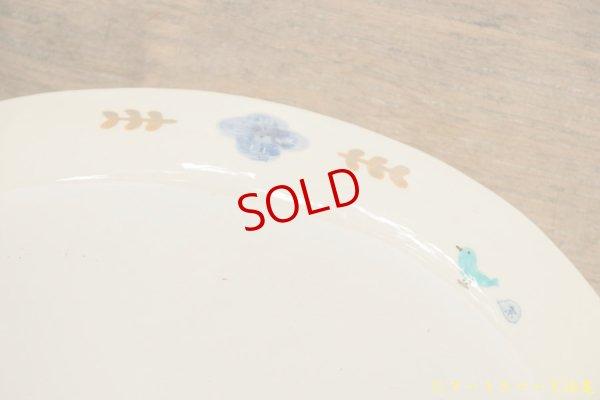 画像5: 喜多代京子 楕円カレー皿 花