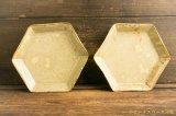 工藤和彦「黄粉引 六角皿」