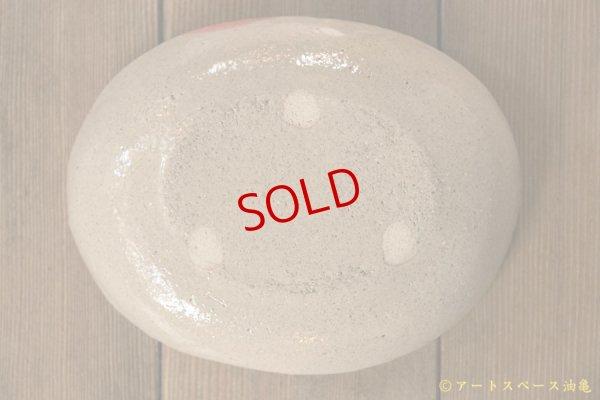 画像5: 増田光 赤丸楕円皿 タヌキ
