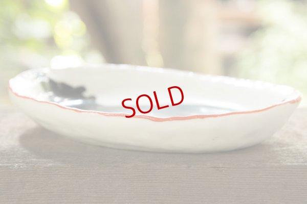 画像4: 増田光 ふち赤楕円皿(小)クマ