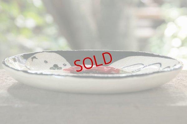 画像4: 増田光 白黒楕円皿(小)ラッコ