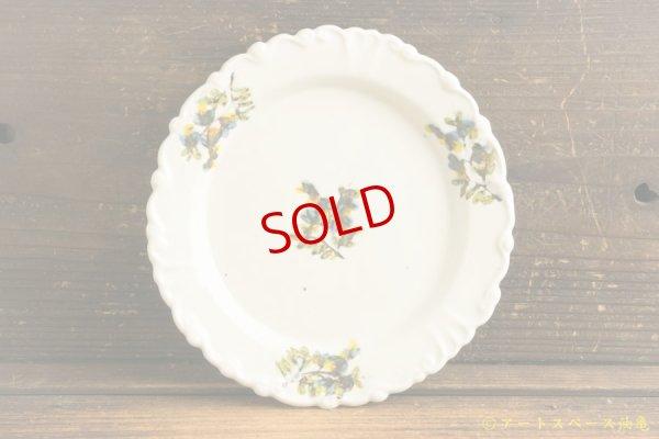 画像1: 松本郁美「白磁掻き落し リム装飾デザート皿」