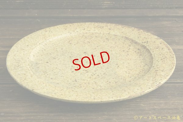 画像4: 馬渡新平「ヒビ粉引き 7.5寸リム皿」