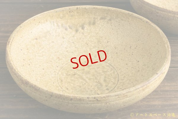 画像4: 馬渡新平「ヒビ粉引 7寸丸鉢」