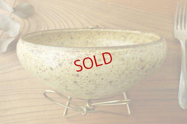 画像2: 馬渡新平「ヒビ粉引 6寸丸鉢」