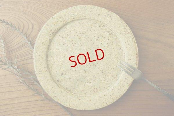 画像1: 馬渡新平「ヒビ粉引 6寸リム皿」