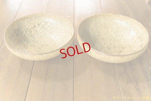 画像3: 馬渡新平「ヒビ粉引 7寸丸鉢」