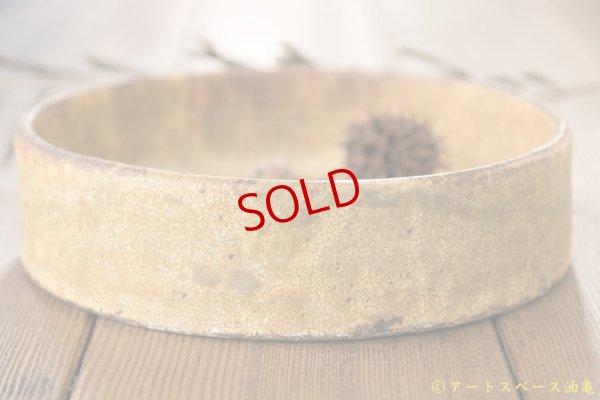 画像2: 馬渡新平 ヒビ粉引き 平鉢6寸