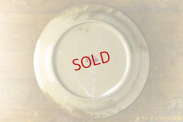 画像4: ヒヅミ峠舎 三浦圭司・三浦アリサ「染付 8寸リム皿 タンポポとコンパス」