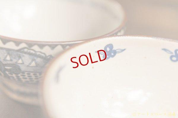 画像2: ヒヅミ峠舎 三浦圭司・三浦アリサ「染付 安南魚文 5.5寸 どんぶり」
