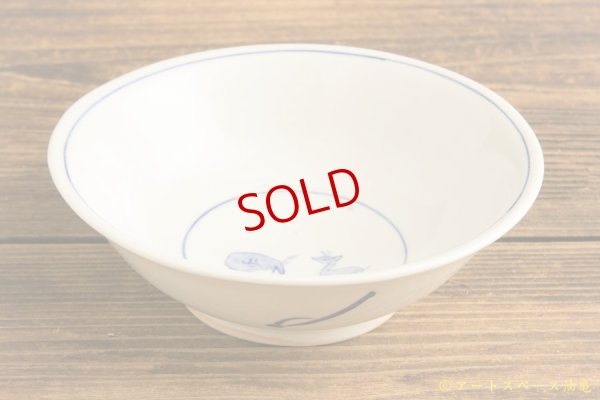 画像2: 水垣千悦「染付 鹿文 5寸皿」