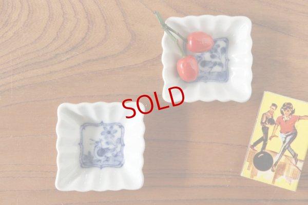 画像1: 武者千夏子「染付 鳥豆皿」