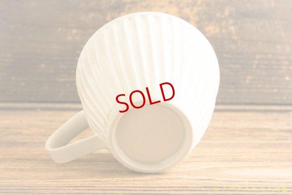 画像3: 小倉夏樹「白磁 鎬マグカップ」