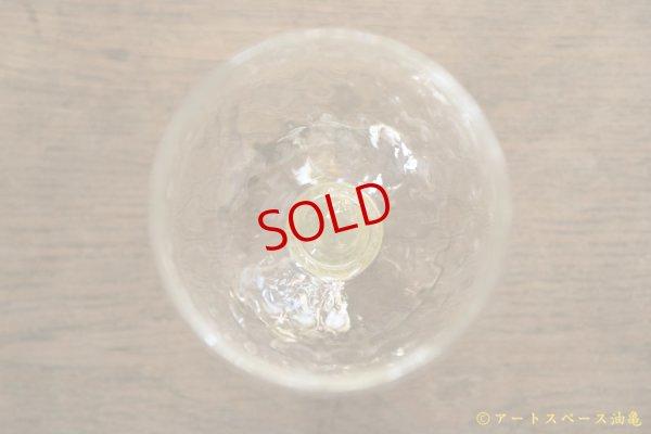 画像4: 白神典大  松井農園 マスカット オブ アレキサンドリア灰 ワイングラス【油亀限定作品】