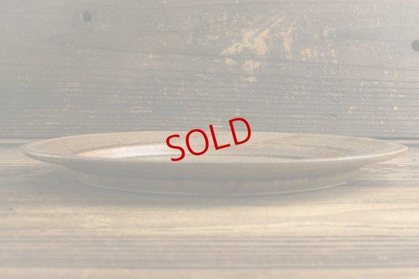 画像2: 高島 悠吏「褐釉 リム平皿L」
