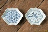 吉田崇昭 染付折紙型小皿