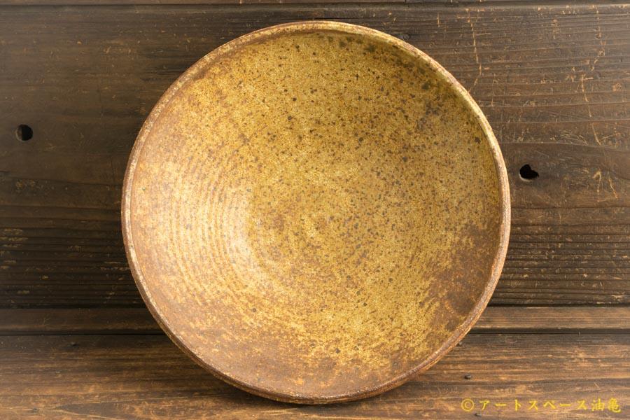 画像2: 馬渡新平「ヒビ粉引 丸鉢8寸」