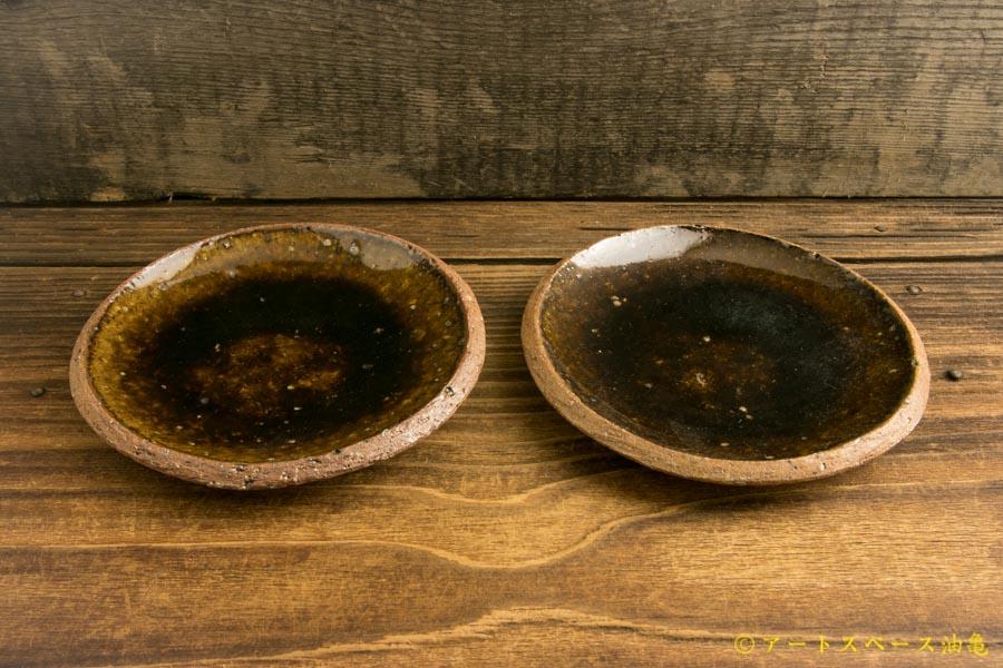 画像4: 寺村光輔「飴釉 4寸丸皿(薪)」