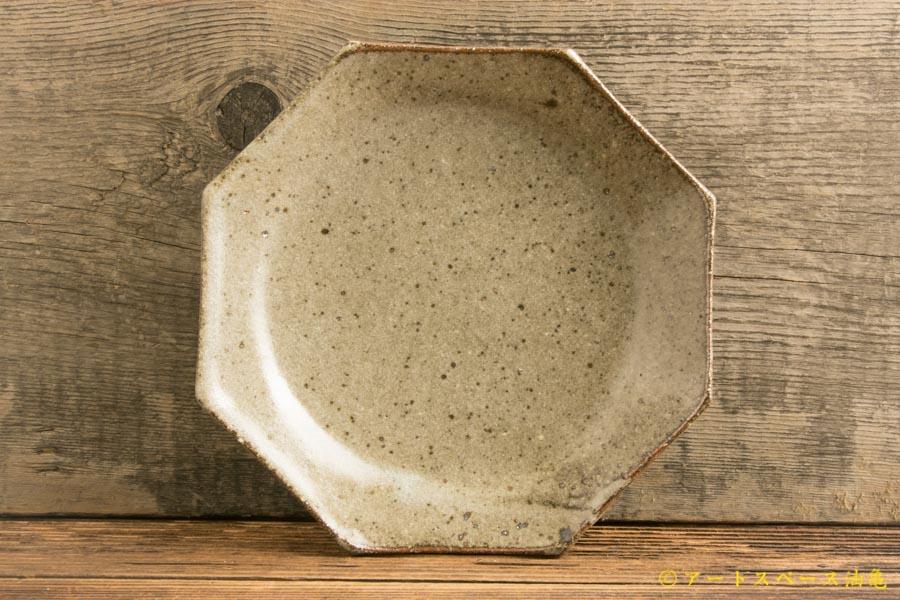 画像1: 寺村光輔「長石釉 オクトゴナル5寸皿」