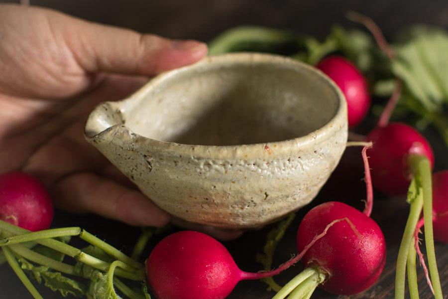 画像1: 工藤和彦「松井農園マスカット オブ アレキサンドリア灰 片口豆鉢」