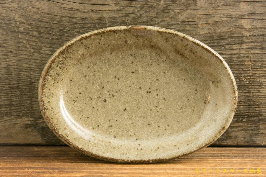 画像1: 寺村光輔「長石釉 オーバルプレートSS」