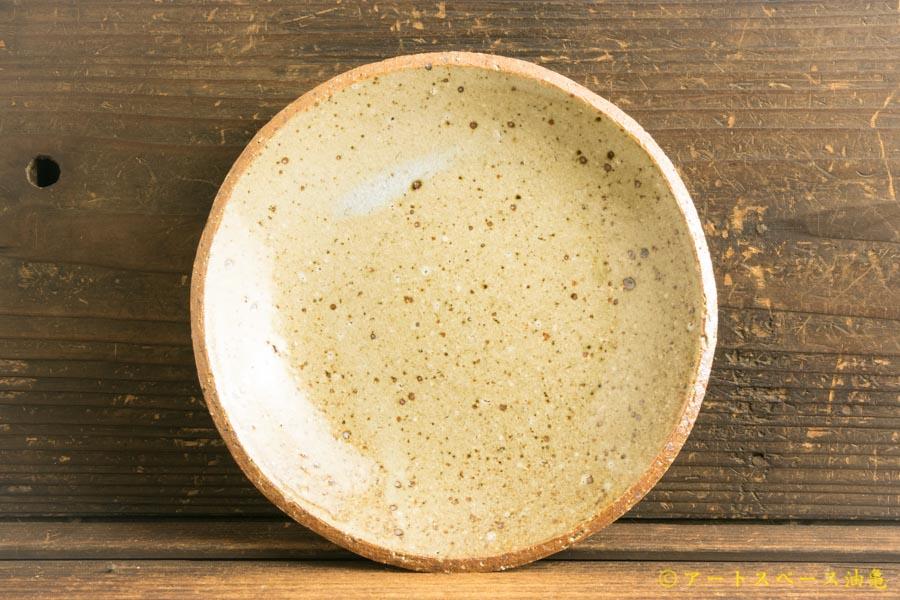 画像1: 寺村光輔「並白釉 6寸丸皿(薪)」