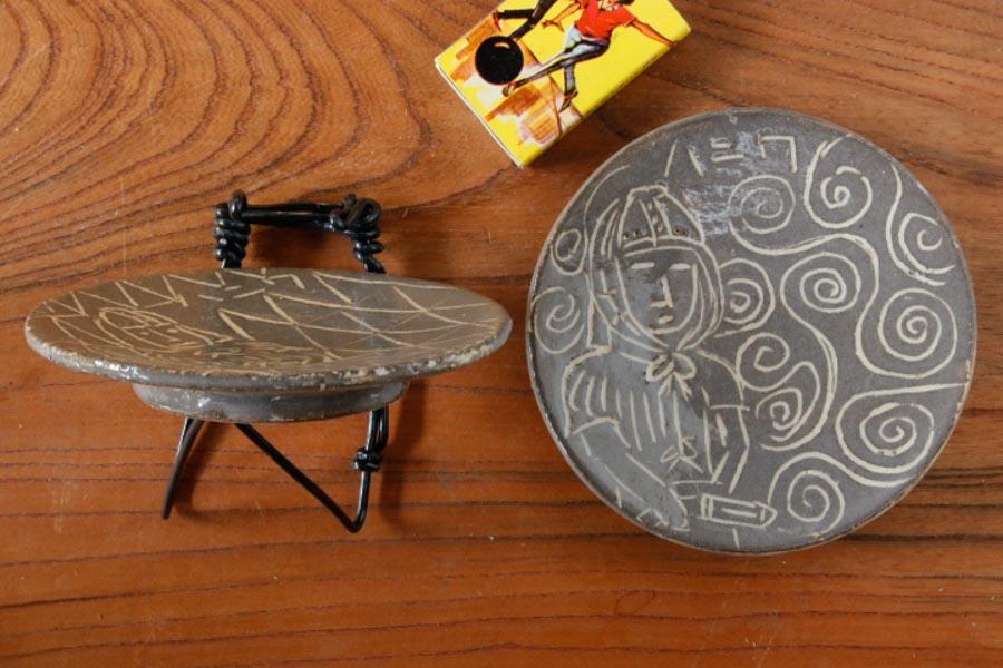 画像3: 安藤大悟「描き落とし 三寸豆皿」