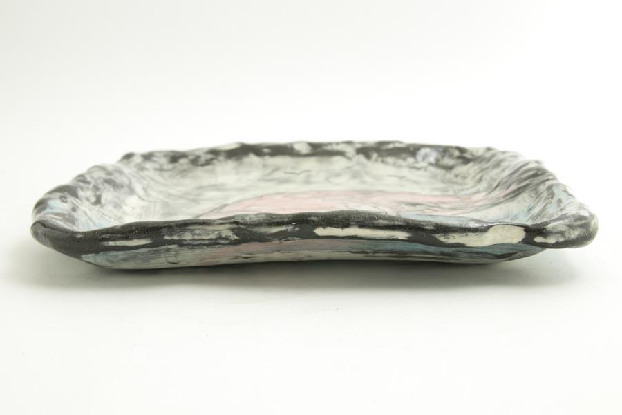 画像5: 奥山泉「四角皿 大 フラミンゴ」