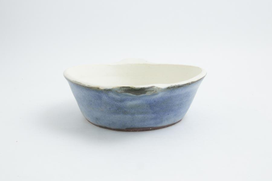 画像3: 八木橋昇「青白 楕円グラタン皿(耐熱陶器)」