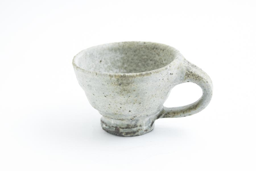 画像1: 加地学「白化粧 灰釉 銅釉  マグカップ」