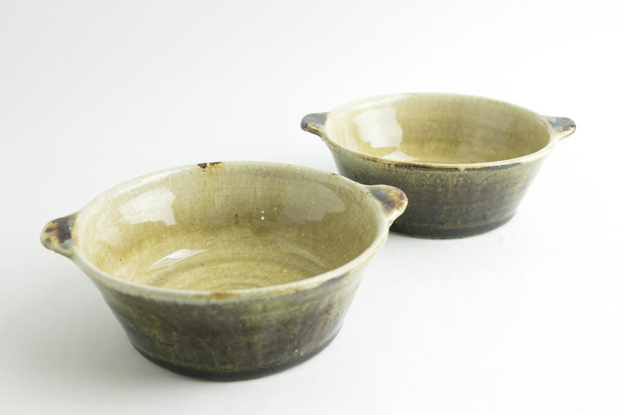 画像1: 八木橋昇「白飴掛分面取 スープ平碗」
