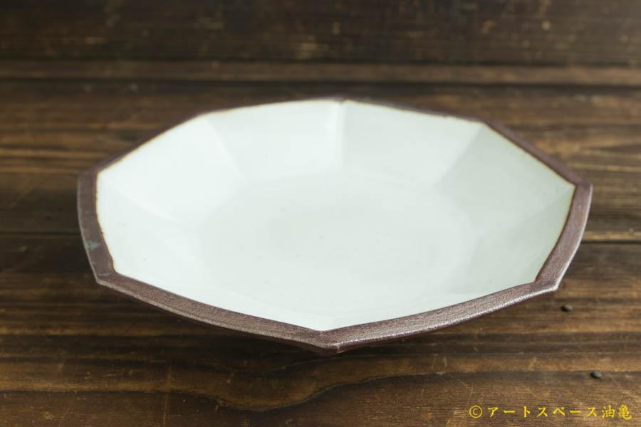 画像1: 遠山貴弘「八角深鉢 藁白」
