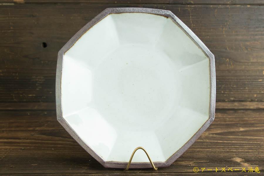 画像2: 遠山貴弘「八角深鉢 藁白」